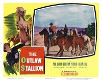 Outlaw Stallion, Lot of 2 Lobby Cards , 1954, 11x14