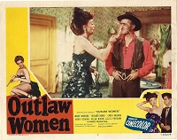Outlaw Women, Re-Release Lobby Card, R56, 11x14