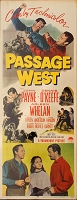 Passage West, 1951, John Payne Original Insert, (14x36)
