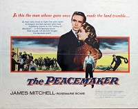 Peacemaker, 1956, James Mitchell, Original Half Sheet, (22x28)