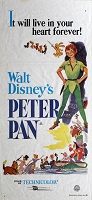 Peter Pan, R76, Disney Animation, Re-Release Australian Daybill (13x30)