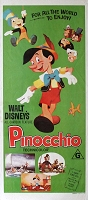 Pinocchio, R70's, Disney Animation Re-Release Australian Daybill (13x30)