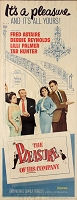 Pleasure of his Company, 1961, Fred Astaire, Original Insert, (14x36)