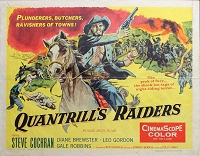 Quantrill's Raiders, 1958, Steve Cochran, Original Half Sheet, (22x28)