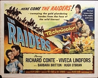 Raiders, 1952, Richard Conte, Original Half Sheet, Style A (22x28)