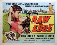 Raw Edge, 1956, Rory Calhoun, Original Half Sheet, Style B (22x28)