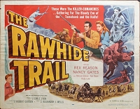 Rawhide Trail, 1958, Rex Reason, Original Half Sheet, (22x28)