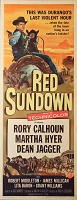 Red Sundown, 1956, Rory Calhoun, Original Insert, (14x36)