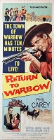 Return to Warbow, 1958, Phil Carey, Original Insert, (14x36)
