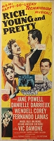 Rich, Young, and Pretty, 1951, Jane Powell , Original Insert, (14x36)