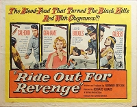 Ride out for Revenge, 1957, Rory Calhoun, Original Half Sheet,  (22x28)