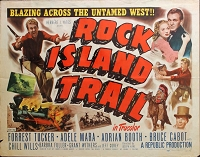 Rock Island Trail, 1950, Forrest Tucker, Original Half Sheet, Style A (22x28)