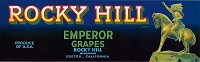 Rocky Hill Brand, Original Grape Crate Label, Circa 1950's, 13.00 x 4.00