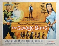 Savage Guns, 1962, Richard Basehart, Original Half Sheet, (22x28)