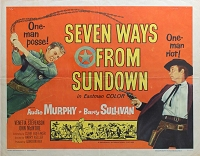 Seven Ways from Sundown, 1960, Audie Murphy, Original Half Sheet, (22x28)