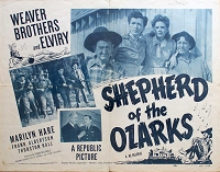 Shepard of the Ozarks, R51, Weaver Brothers  , Re-Release Half Sheet, (22x28)