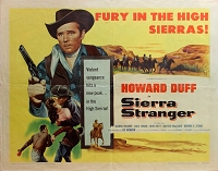 Sierra Stranger, 1957, Howard Duff, Original Half Sheet, (22x28)