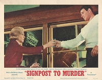 Signpost to Murder, 1964, Joanne Woodward, Stuart Whitman, Lot of 2 Lobby Cards, 11x14