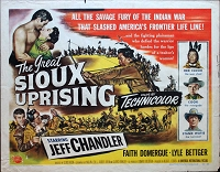 Sioux Uprising, 1953, Jeff Chandler, Original Half Sheet,  (22x28)