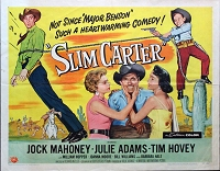 Slim Carter, 1957, Jock Mahoney, Original Half Sheet,  (22x28)