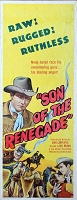 Son of the Renegade, 1953 Johnny Carpenter, Original Insert, (14x36)