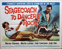 Stagecoach to Dancer's Rock, 1962 , Warren Stevens, Original Half Sheet, (22x28)