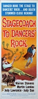 Stagecoach to Dancer's Rock, 1962, Warren Stevens , Original Insert, (14x36)