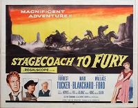 Stagecoach to Fury, 1956, Mari Blanchard, Original Half Sheet, (22x28)