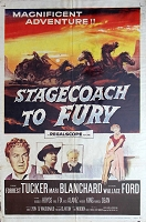 Stagecoach to Fury, 1956, Forrest Tucker, Original 1 Sheet (27x41)