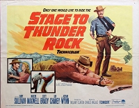 Stage to Thunder Rock, 1964, Barry Sullivan, Original Half Sheet, Style A (22x28)