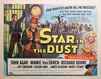 Star in the Dust, 1956, John Agar, Original Half Sheet, Style A (22x28)