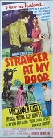 Stranger at my Door, 1956, MacDonald Carey, Original Insert, (14x36)