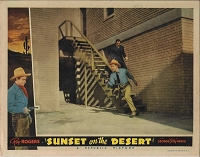 Sunset on the Desert, 1942, Roy Rogers,  Lobby Card 11x14