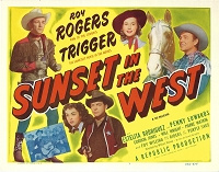 Sunset in the West,Title Card , R56, 11x14