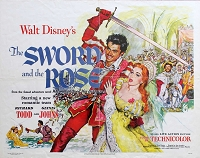 Sword and the Rose, 1953, Disney Live Action, Original Half Sheet, (22x28)