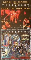 Testament, Live at the Fillmore Appearance Poster, Circa 1995, 11.5x22.5 , Guaranteed Original!