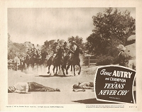 Texans Never Cry, Lobby Card , R57, 11x14