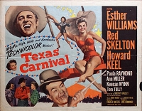 Texas Carnival, 1951, Ester Williams, Original Half Sheet, Style B (22x28)