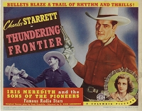 Thundering Frontier,Title Card, 1940,  11x14