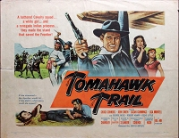 Tomahawk Trail, 1957, Chuck Connors, Original Half Sheet, (22x28)