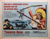 Trooper Hook, 1957, Barbara Stanwyck, Original Half Sheet, (22x28)