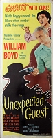 Unexpected Guest, 1947, William Boyd, Original Insert, (14x36)