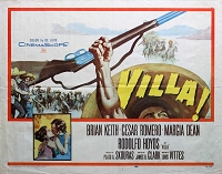 Villa, 1958, Brian Keith, Original Half Sheet (22x28)