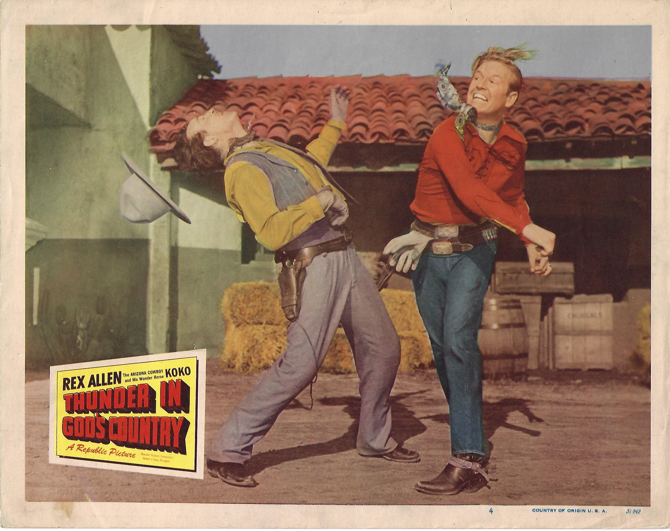 Thunder in God's Country, Original Lobby Card , 1951, 11x14