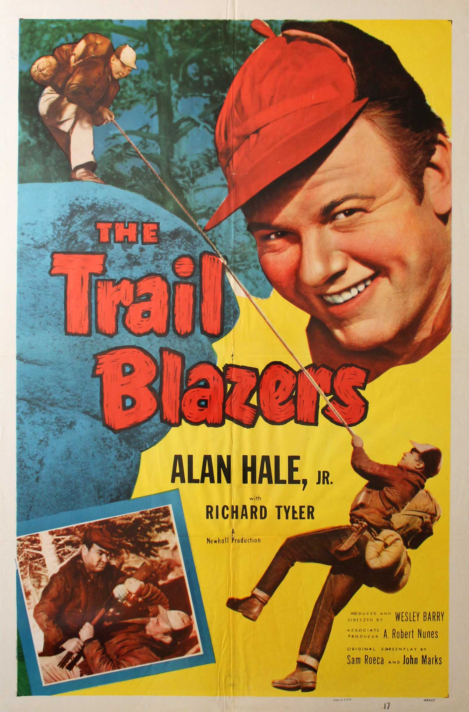 Trail Blazers, 1953, Alan Hale Jr., Original 1 Sheet (27x41)