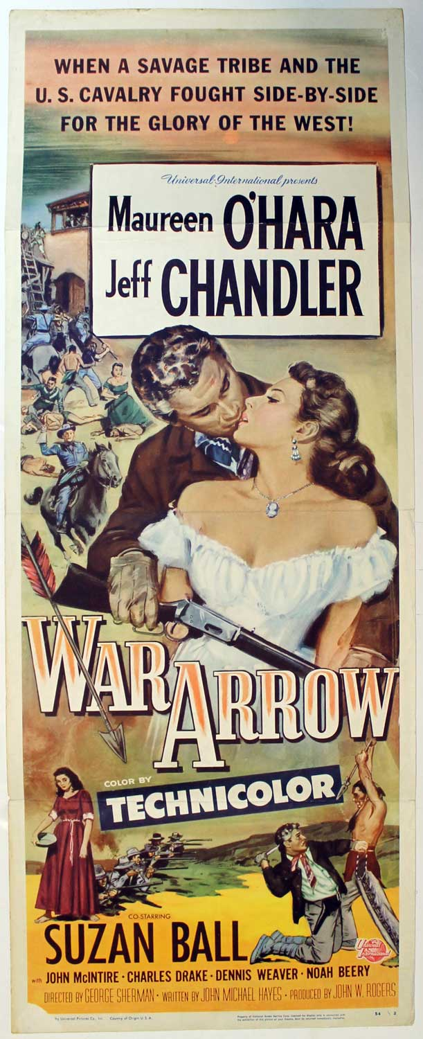 War Arrow, 1954, Original Insert, (14x36