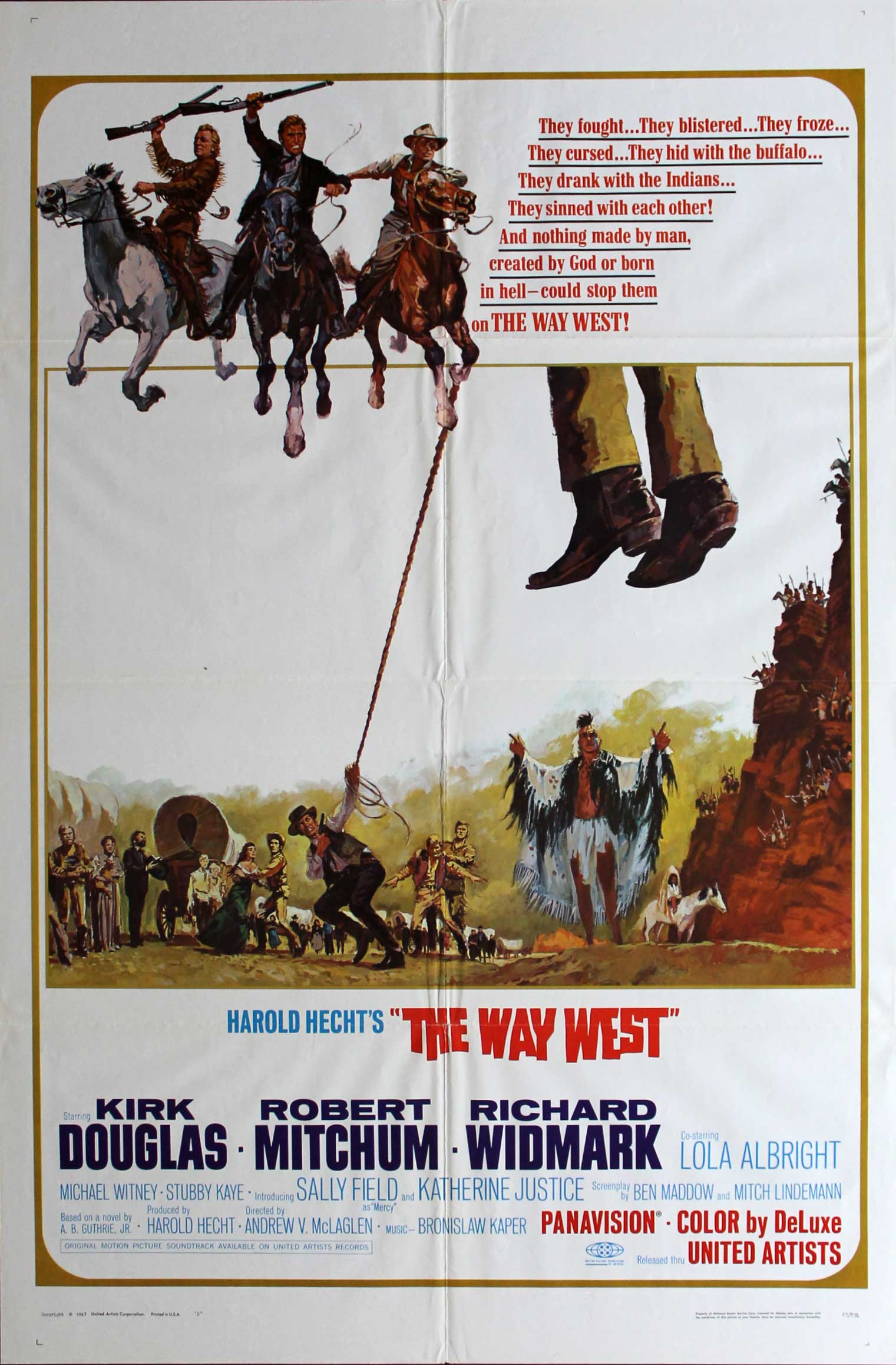 Way West, 1967, Robert Mitchum, Original 1 Sheet (27x41)