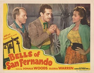 Bells of San Fernando, 1947, Donald Woods, Gloria Warren, Lot of 2 Lobby Cards! 11x14