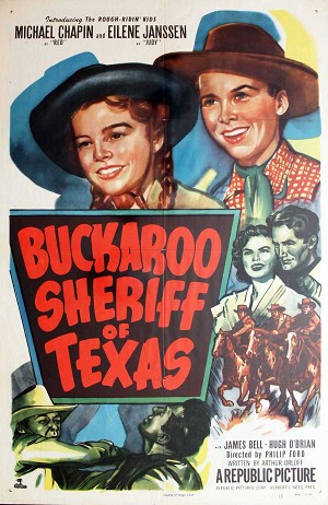 Buckaroo Sheriff of Texas, 1951, Michael Chapin, 1 Sheet (27x41)