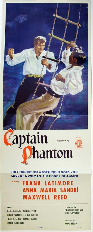 Captian Phantom, 1960, Original Insert, (14x36